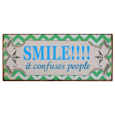 Smile! It confuses people